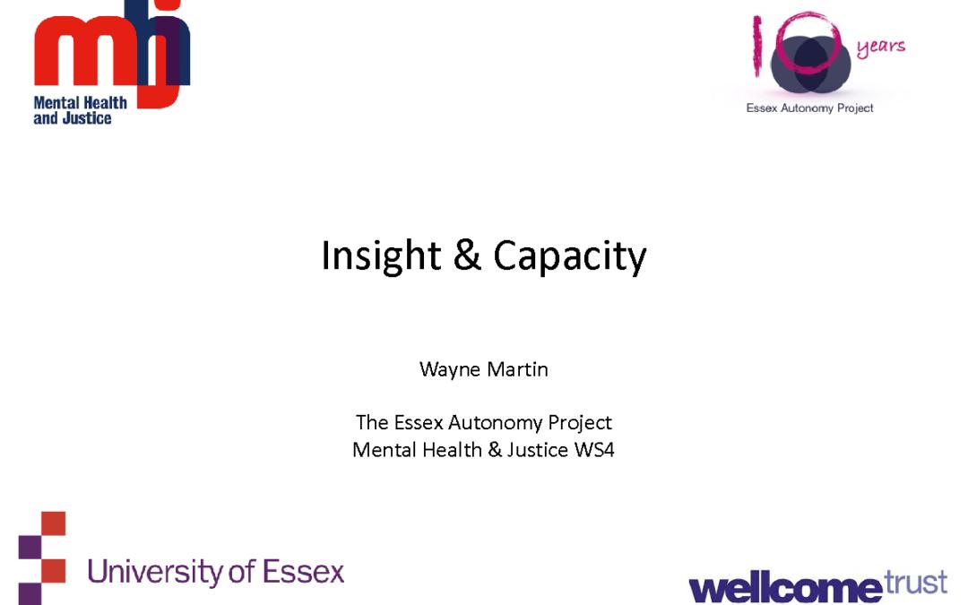 Insight and Capacity – Wayne Martin