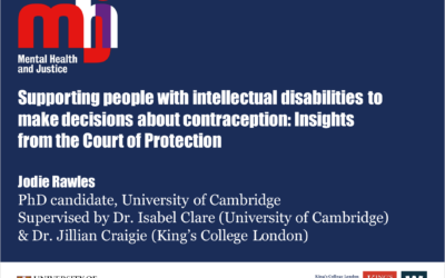 Support in the contraception decisions of people with learning disabilities: An online survey – Jodie Rawles, Isabel Clare