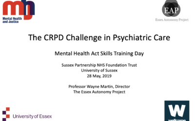 The CRPD Challenge in Psychiatric Care – Wayne Martin