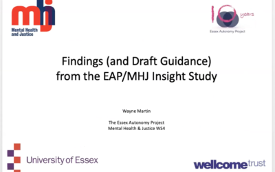 EAP 10th Anniversary Summer School:  Findings from the EAP Insight Study – Wayne Martin